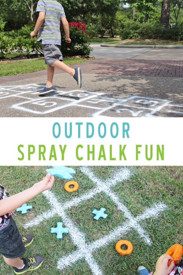 spray chalk outdoor activities for summertime