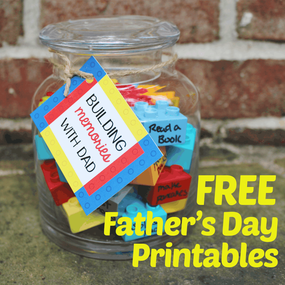 DIY fathers day gift with FREE printable