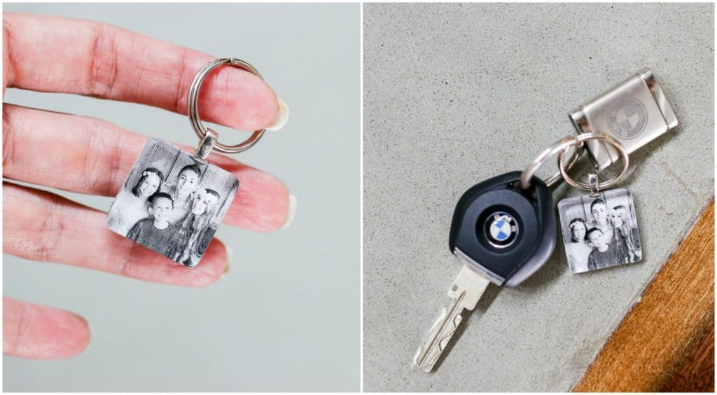 DIY photo keychain idea for Father's Day